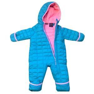 SNOZU INFANT FLEECE LINED QUILTED SNOWSUIT